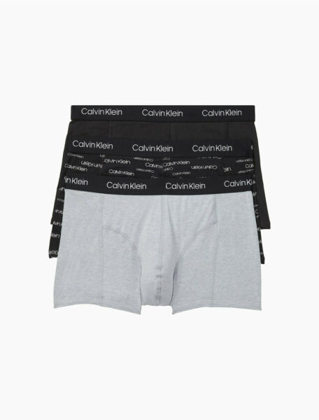 Calvin Klein Men#x27;s Underwear Cotton Stretch Trunk 3 Pack Size XL NP2167O $24.99