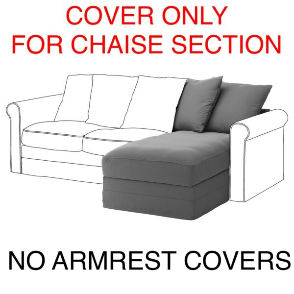 IKEA Gronlid Cover Slipcover for chaise Section Ljungen Medium Gray $119.00