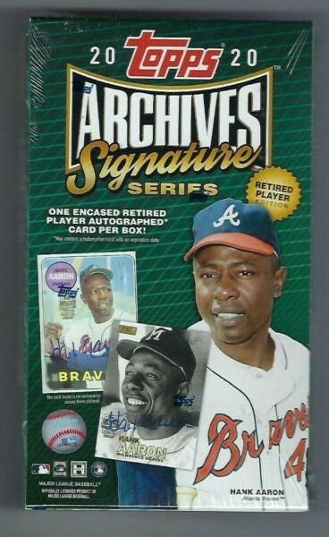 2020 Topps Archives Signature Series Baseball Retired Edition Sealed Box