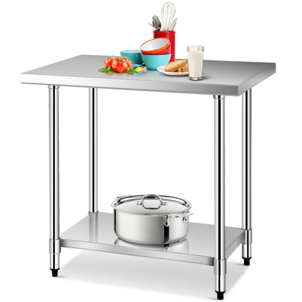 IRONMAX 24quot;x36quot; Stainless Food Prep Work Table Commercial Kitchen Worktable