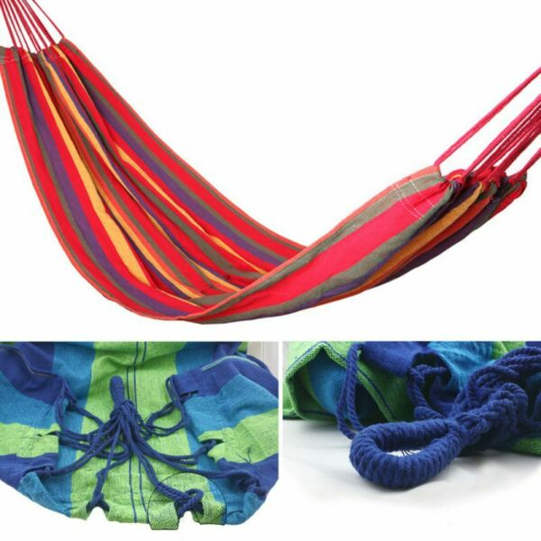 Double Hammock Extra Long Two Person Hammock Bed 600lb Air Hanging Swinging $26.99