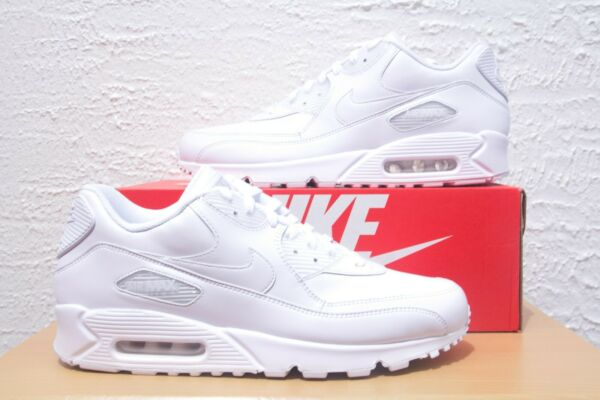 Nike Air Max 90 Mens Size 12 White Leather Casual Shoes 302519-113