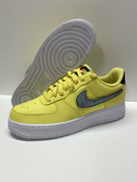 Nike Air Force 1 Low Removable Swoosh Pack Yellow Pulse CI0064-700 Size 9 NEW