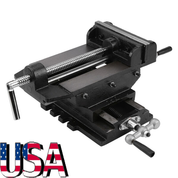 6quot; CROSS SLIDING DRILL PRESS VISE SLIDE VICE HEAVY DUTY X Y CLAMP MACHINE TOOLS