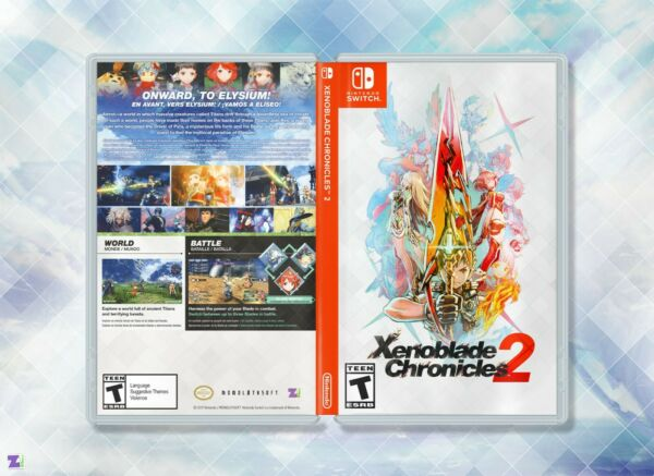 Xenoblade Chronicles 2 Cover Art: Custom Art Insert amp; Case Nintendo Switch