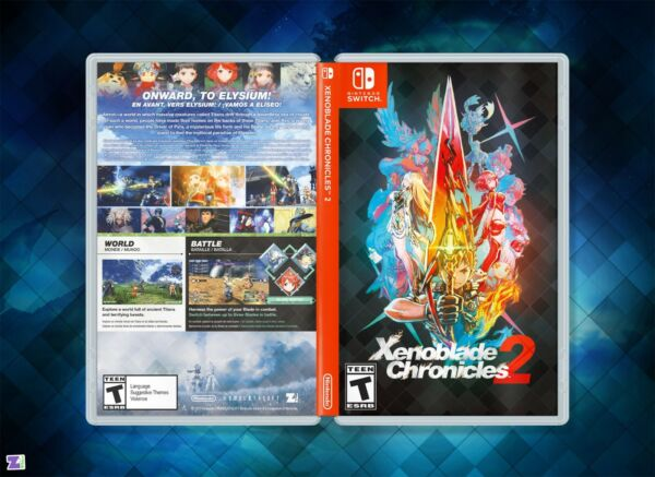 Xenoblade Chronicles 2 Cover Art: quot;After Darkquot; Custom Insert amp; Case Nintendo