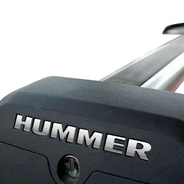 B2G1 Free 2008 GMC HUMMER H3 Roof Rack Vinyl Letters Chrome Inserts Stickers Set $4.99