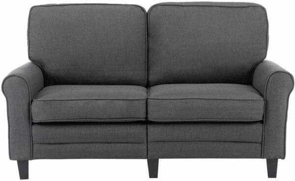 Futon Sofa Loveseat Couch Upholstered 2-Seater Fabric Living Room Home Furniture