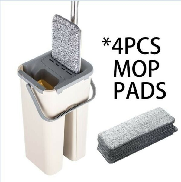 Spray Magic Automatic Spin Floor Mop Avoid Hand Washing Fiber Cleaning Cloth $32.99