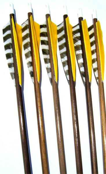 6 MATCHED WOOD ARROWS 30quot; $45.99
