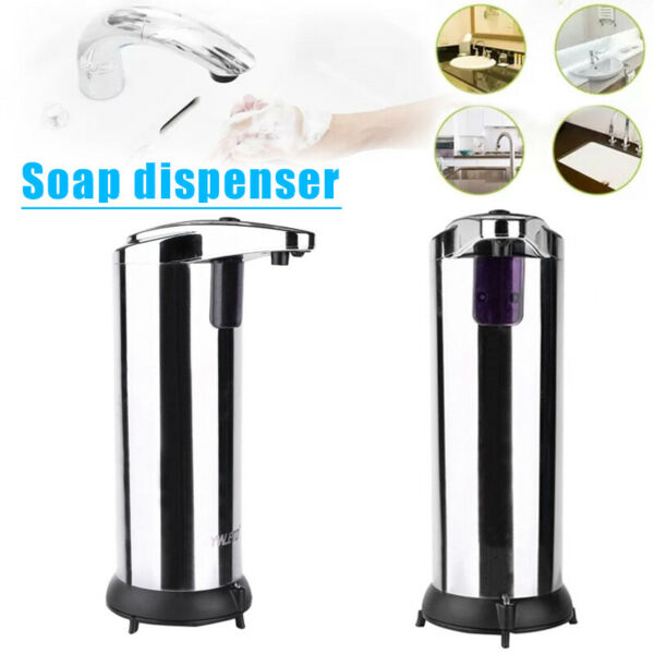 Waterproof Automatic Soap Dispenser Stainless Steel Touchless IR Motion Sensor $21.99