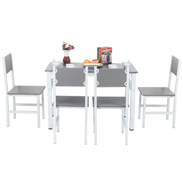 5 Piece Dining Table Set w/4 Chairs Kitchen Room  Modern Style Furniture Supplie