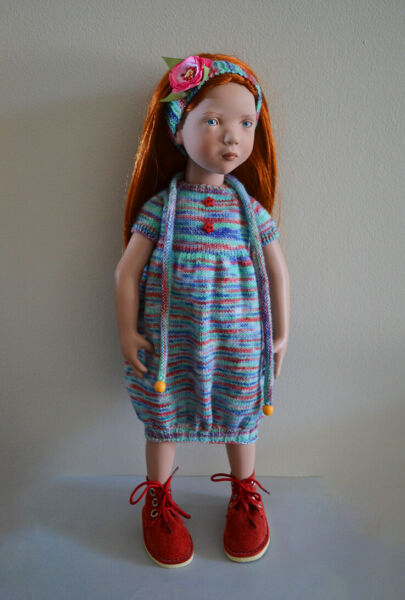 Hand Knitted Dress Set For Zwergnase 19.7