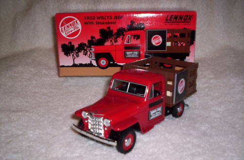 LIBERTY CLASSICS 1953 WILLYS JEEP LENNOX STAKEBED TRUCK BANK MIB $39.99