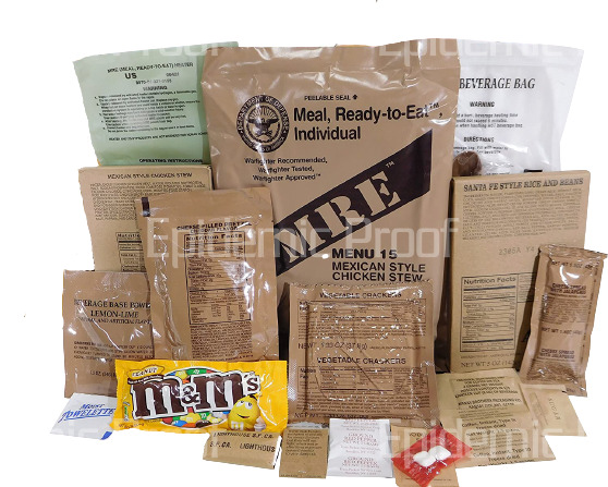 1 INDIVIDUAL 2022 MRE YOU CHOOSE MENU GENUINE US MILITARY MEAL READY TO EAT $16.99