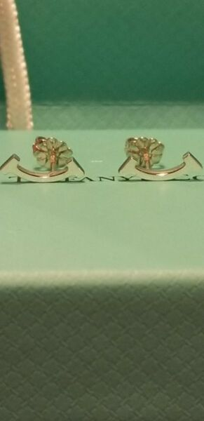 TIFFANY & CO. 925 STERLING SILVER T COLLECTION PAIR OF SMILE EARRINGS NEW!
