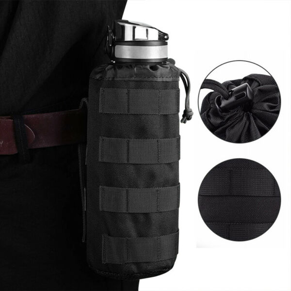 Molle Water Bottle Outdoor Tactical Pocket Accessories Small Carrier Holder Bag $7.99