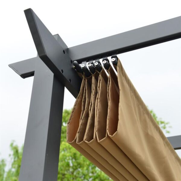 ALEKO Fabric Replacement for Pergola Canopy 13 x 10 Ft Sand Color