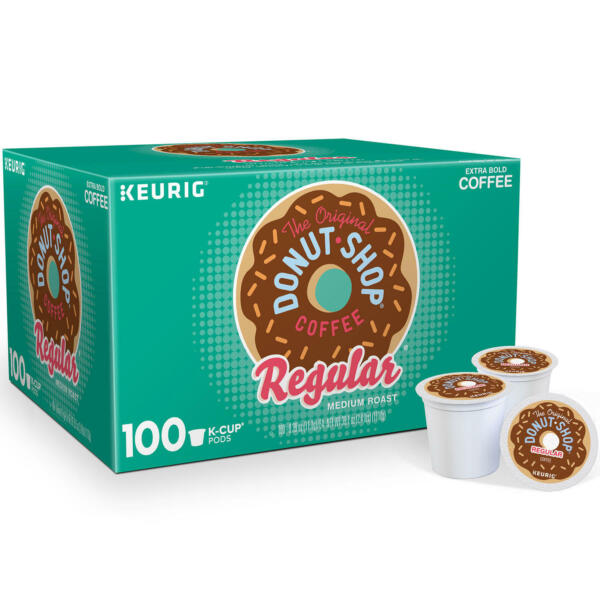 Keurig Hot The Original Donut Shop Medium Roast Coffee Reg K Cup Pods 100 Count