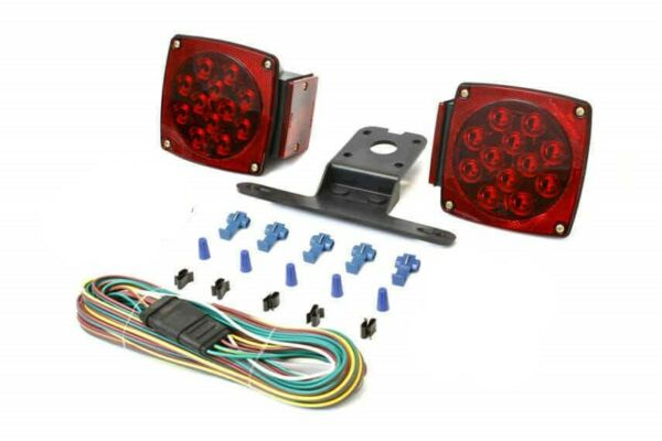 1 Pair Square 2 amber LED hardware parts Submersible Trailer Tail Lights no wire