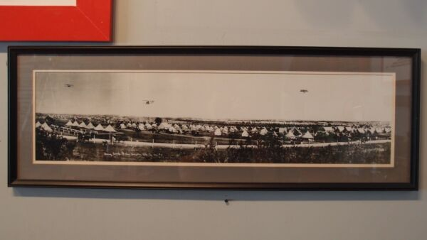 RARE VINTAGE PANORAMIC OF ARMY CAMP FORT SAM HOUSTON..1911
