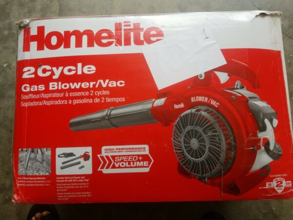Homelite 26cc Gas Blower 3 in 1 Handheld W Variable Speed Throttle UT26HBV
