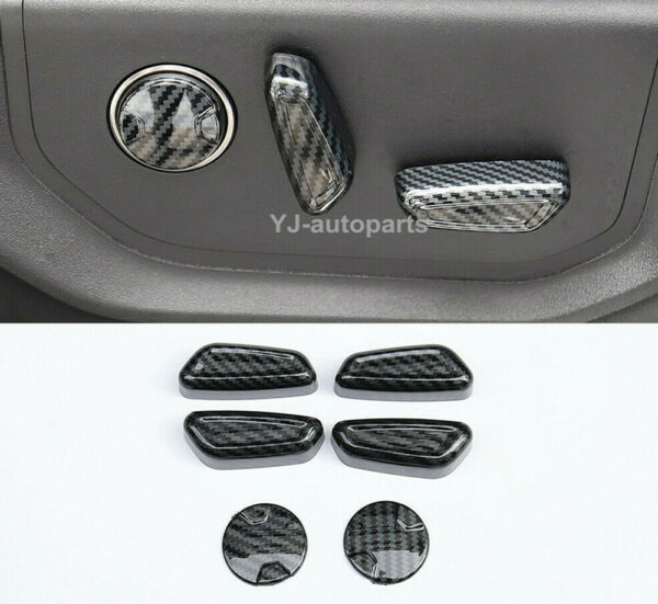 ABS Carbon Grain Seat Adjustment Switch Overlay Cover For FORD F150 2017 2020 $31.99