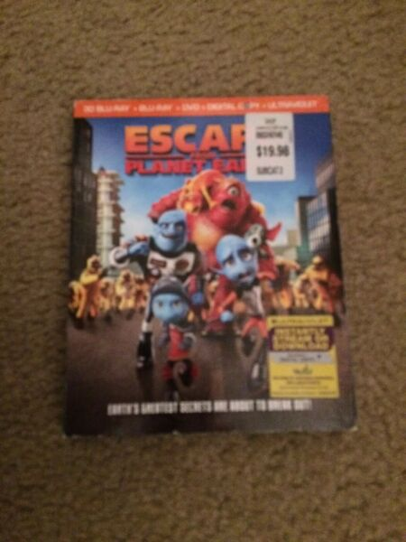 Escape From Planet Earth (Blu-rayDVD 2013 4-Disc Set. $3.00