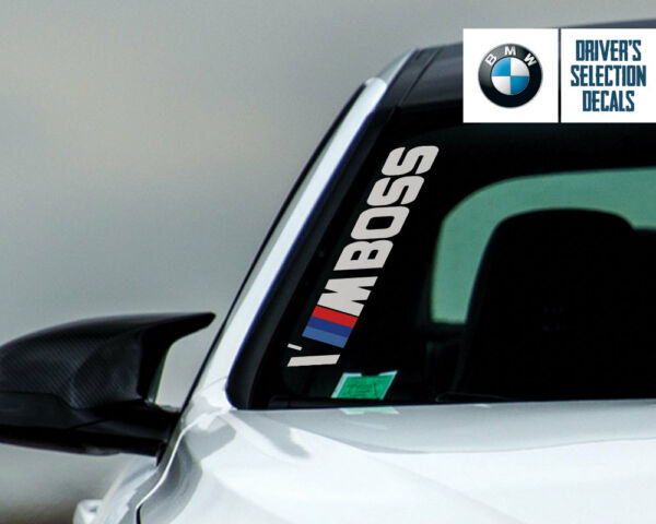 BMW Performance I#x27;M BOSS Side Windshield Decal windows sticker graphic