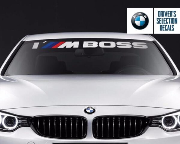 BMW Windshield I#x27;M Boss M Performance windows sticker decal graphic