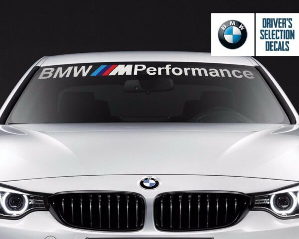 BMW Windshield BMW M Performance windows sticker decal graphic