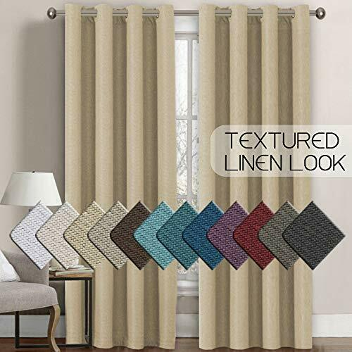 Heavy Weight Textured Rich Linen Burlap Curtains For Bedroom And Living Room New
