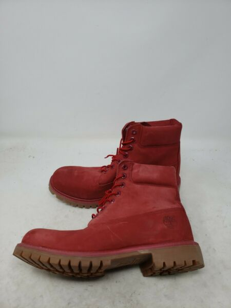 TIMBERLAND Size 9.5 W53 Mens A1149 MEN#x27;S 6quot; PREMIUM RED WATERPROOF BOOTS $89.99