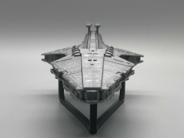 """Venator class star destroyer 9"""" Long with black stand"""