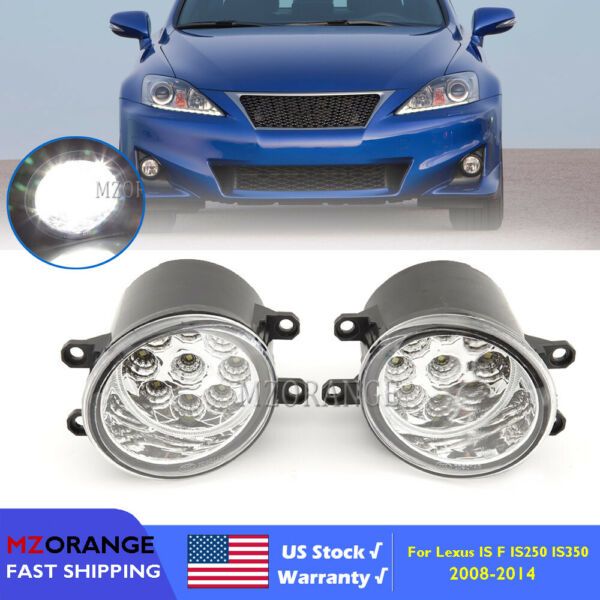 9 LED Fog Light For Lexus IS F IS250 IS350 08 14 Replacement Driving Lamp Lamp;R US