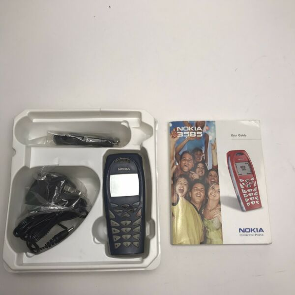 Nokia 3585 Cell Phone Charger Headset amp; Manual TESTED WORKS A2