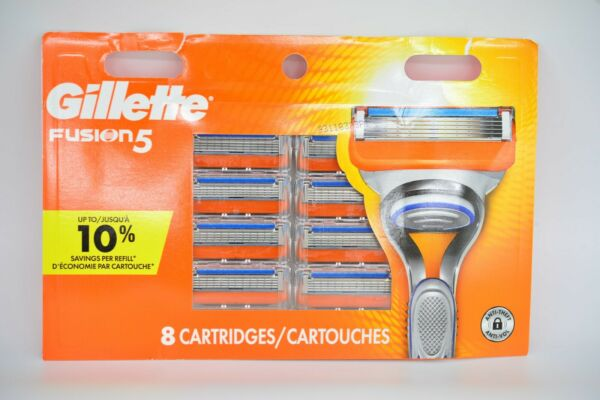 Gillette Fusion5 91412851 Razor Blade refills New Packs of 8 Cartridges USA Made