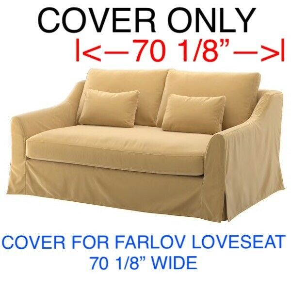 IKEA FARLOV COVER SLIPCOVER FOR LOVESEAT Djuparp yellow beige $150.00