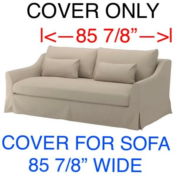 IKEA FARLOV COVER SLIPCOVER FOR SOFA Flodafors Beige $220.00