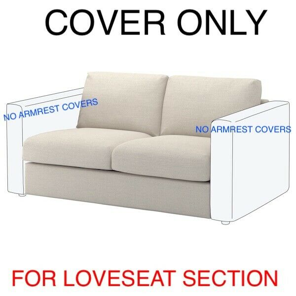 Ikea VIMLE COVER SLIPCOVER FOR Loveseat Section 103.510.21 Gunnared Beige $99.00