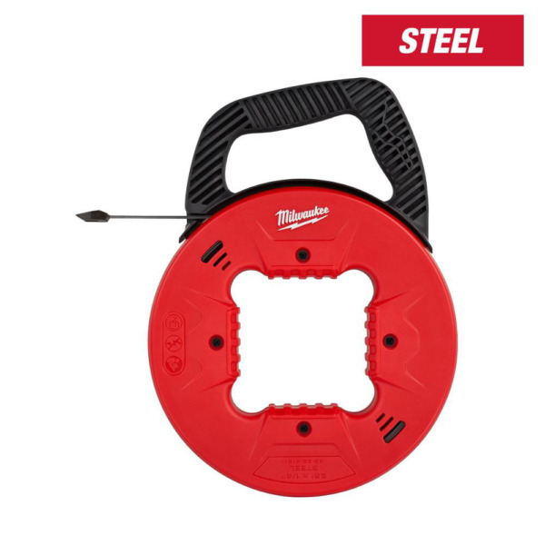 Milwaukee Fish Tape Electrical Cable Puller Steel Low Profile Tip 25 Ft x 1 4 In $20.09