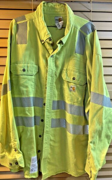 Carhartt FR ANSI Hi Viz Great Come No Holes Or Tears Size 2X $19.99