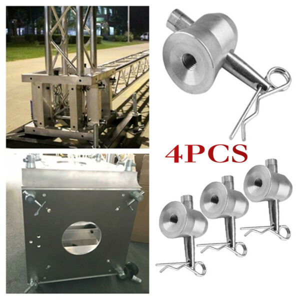 4 PCS Half Conical Coupler with Clips Pins Fit F34 F33 For Stage Truss Trusses