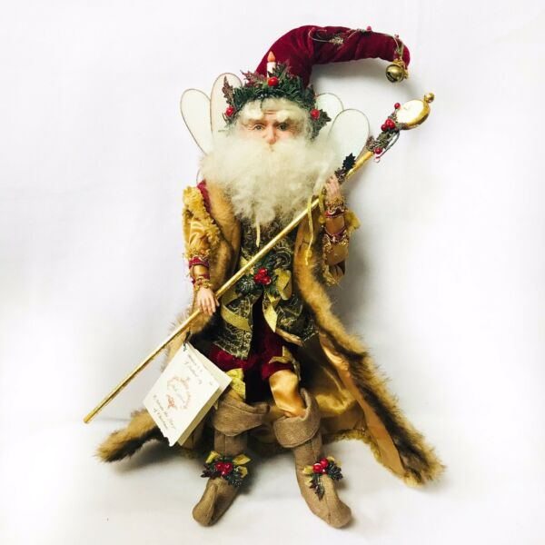 Mark Roberts Father Christmas Fairy Santa Large Retired id card # 971 of 5000 $113.74