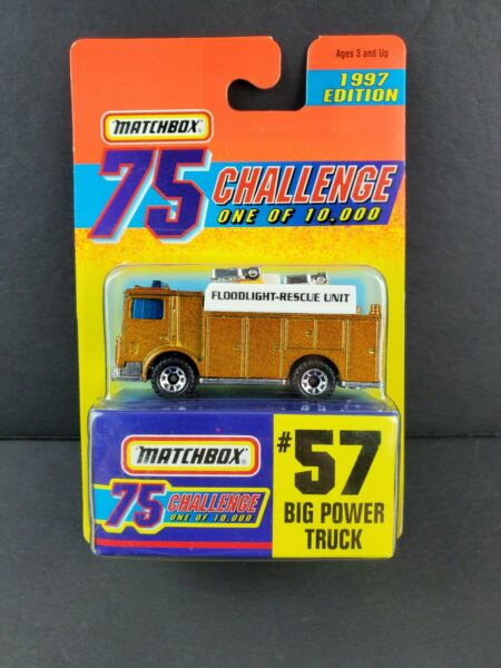 1997 Matchbox Gold Challenge Limited Edition Car Big Power Truck Fire Rescue #57 $6.26