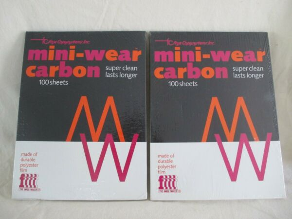 Two 100 Sheet Packages of Vintage Frye Copysystems Mini Wear Carbon Sheets $39.99