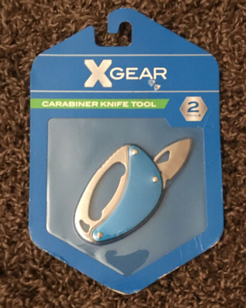 X Gear Carabiner knife 2 Tools with locking blade $8.46