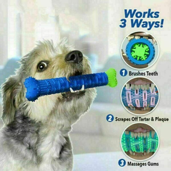 Chew Toy Dog Toothbrush Pet Molar Tooth Cleaning Brushing Puppy Stick $5.01