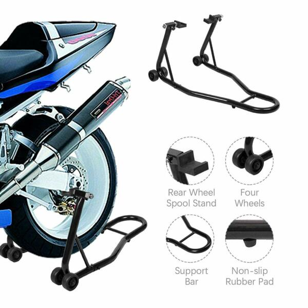Motorcycle Bike Stand Rear Forklift Spoolift Paddock Swingarm Lift Auto Bike BLK $46.54