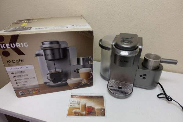 Keurig K Cafe Special Edition Coffee K84 Latte amp; Cappuccino Maker Silver 8B 33